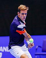 Rotterdam, Netherlands, December 12, 2017, Topsportcentrum, Ned. Loterij NK Tennis, Scott Griekspoor (NED)<br /> Photo: Tennisimages/Henk Koster