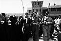 Iraq 1992  Duhok: Fazel Mirani with personalities visiting a polling station     Irak 1992  Jour des elections a Duhok, Fazel Mirani, a droite, avec des personnalités de la ville visitant des bureaux de vote