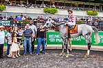 SEPT 07, 2019 : Marconi with Jose Lezcano, wins the $300,000 Grand Prix American Jockey Club Invitational Stakes, going 1 1/2 mile, at Belmont Park, in Elmont, NY, Sept 7, 2019. Sue Kawczynski_ESW_CSM,