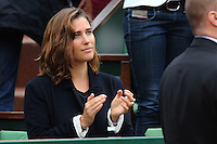 Vahina Giocante watching tennis during Roland Garros tennis open 2016 on may 29 2016.
