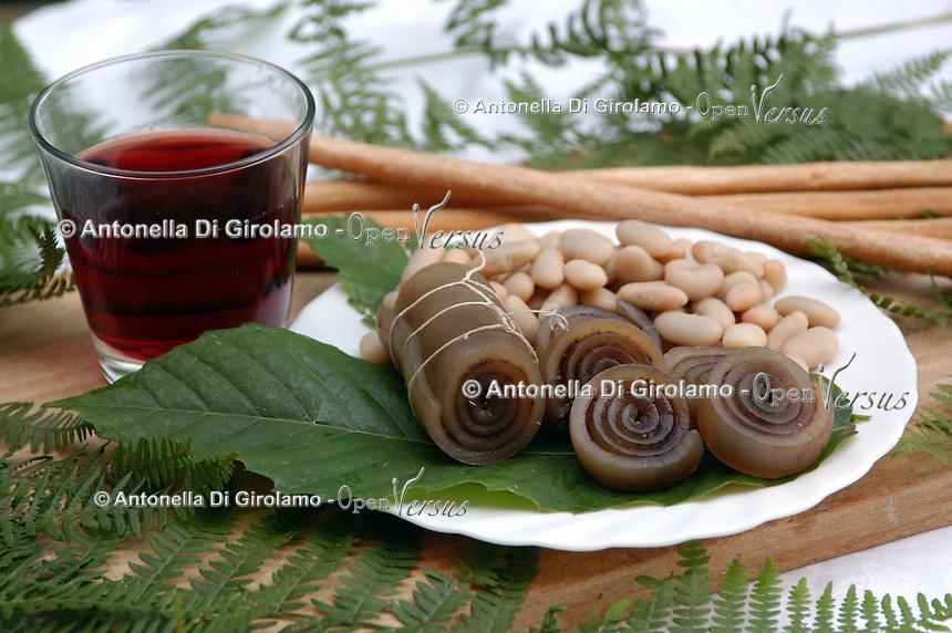 Salumi tipici della Valchiusella in Piemonte. Typical salami product in Valchiusella, zone of the Piedmont...