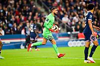 19th September 2021: Le Parc des Princes, Paris, France; French League 1 football Paris Saint Germain versus Olympique Lyonnais:  Gianluigi Donnarumma PSG collects a through ball