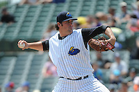 Trenton Thunder pitcher Zach Nuding (56) during game against the Richmond Flying Squirrels at ARM & HAMMER Park on June 9 2013 in Trenton, NJ.  Trenton defeated Richmond 3-2.  Tomasso DeRosa/Four Seam Images