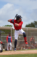 FCL Twins Keoni Cavaco (51) bats during a game against the FCL Red Sox on July 3, 2021 at CenturyLink Sports Complex in Fort Myers, Florida.  (Mike Janes/Four Seam Images)