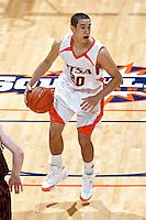 SAN ANTONIO, TX - NOVEMBER 22, 2008: The East Central University Tigers vs. The University of Texas at San Antonio Roadrunners Men's Basketball at the UTSA Convocation Center. (Photo by Jeff Huehn)