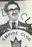 Jean-Luc Pepin, at the Empire Club Tribune