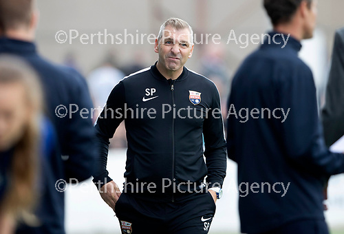 Montrose v St Johnstone…21.07.18…  Links Park    League Cup<br />Stewart Petrie reacts at full time<br />Picture by Graeme Hart. <br />Copyright Perthshire Picture Agency<br />Tel: 01738 623350  Mobile: 07990 594431