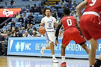 CHAPEL HILL, NC - NOVEMBER 01: Cole Anthony #2 of the University of North Carolina brings the ball up the court during a game between Winston-Salem State University and University of North Carolina at Dean E. Smith Center on November 01, 2019 in Chapel Hill, North Carolina.