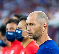 NASHVILLE, TN - SEPTEMBER 5: Gregg Berhalter of the United States stands on the field during a game between Canada and USMNT at Nissan Stadium on September 5, 2021 in Nashville, Tennessee.