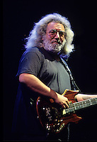 """Jerry Garcia of The Grateful Dead performs during a concert in Oakland.  The remaining members of the band will reunite for the final time for the """"Fare Thee Well"""" concerts  over July 4th weekend in 2015."""