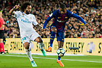 Nelson Cabral Semedo (R) of FC Barcelona battles for the ball with Marcelo Vieira Da Silva of Real Madrid during the La Liga 2017-18 match between FC Barcelona and Real Madrid at Camp Nou on May 06 2018 in Barcelona, Spain. Photo by Vicens Gimenez / Power Sport Images