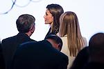 """Queen Letizia of Spain during the delivery of SM Awards of children's literature """"El Barco de Vapor"""" and """"Gran Angular"""" at Real Casa de Correos in Madrid. April 19,2016. (ALTERPHOTOS/Borja B.Hojas)"""