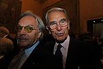 CARLO ROSSELLA E DIEGO DELLA VALLE<br /> PREMIO GUIDO CARLI - TERZA  EDIZIONE<br /> PALAZZO DI MONTECITORIO - SALA DELLA LUPA<br /> CON RICEVIMENTO  HOTEL MAJESTIC   ROMA 2012