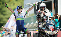 stage winner & new overall leader (by 1 sec) Adam Yates (GBR/Orica-GreenEDGE)<br /> <br /> Tour of Turkey 2014<br /> stage 6