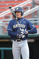 Pittsburgh Panthers outfielder Boo Vazquez (24) during game against the St. John's Redstorm at Jack Kaiser Stadium on March 22, 2013 in Queens, New York.  Pittsburgh defeated St. John's 12-9.  (Tomasso DeRosa/Four Seam Images)