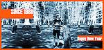 Immagine di invito a SINCE 1988, la collezione degli Auguri di Marco Saroldi in mostra al B.A.R.L.U.I.G.I. di via Brandizzo 31 a Torino. Gennaio 2014.