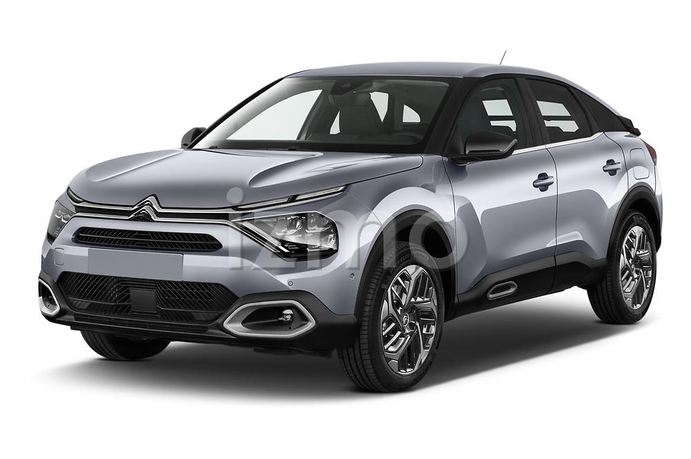 2021 Citroen C4 Shine-Pack 5 Door SUV Angular Front automotive stock photos of front three quarter view