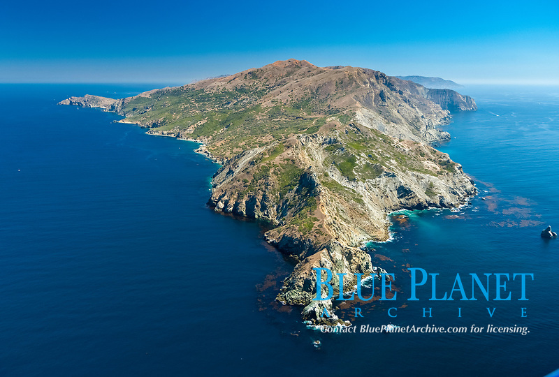 Aerial photo of Catalina Island, West End.