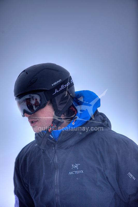 Challenge Mer et Montagne 2012, Saint Gervais les Bains, Mont Blanc, Haute Savoie, France..Ski Super Geant..Guillaume Vallot