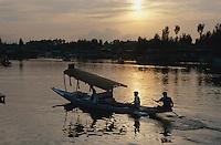 Auf dem Dal-See in Srinagar (Kashmir), Indien