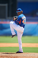 GCL Mets relief pitcher Enmanuel Berihuete (47) during a game against the GCL Marlins on August 12, 2016 at St. Lucie Sports Complex in St. Lucie, Florida.  GCL Marlins defeated GCL Mets 8-1.  (Mike Janes/Four Seam Images)