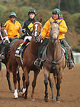 October 04, 2014: Bold Conquest and jockey Rosie Napravnik in the Claiborne Breeders' Futurity Grade 1 $500,000 at Keeneland Racecourse.  Candice Chavez/ESW/CSM