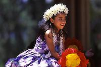 Hula Performance at May Day Celebration.  Hula Halau Hula ëO Hokulani Keiki.