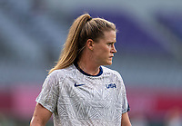 TOKYO, JAPAN - JULY 21: Alyssa Naeher #1 of the USWNT warms up before a game between Sweden and USWNT at Tokyo Stadium on July 21, 2021 in Tokyo, Japan.