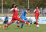 Giuseppe Burgio (Nr.13, FC Astoria Walldorf) erzielt den Anschluss zum 1:2   beim Spiel, FC Astoria Walldorf - SC Freiburg II.<br /> <br /> Foto © PIX-Sportfotos *** Foto ist honorarpflichtig! *** Auf Anfrage in hoeherer Qualitaet/Aufloesung. Belegexemplar erbeten. Veroeffentlichung ausschliesslich fuer journalistisch-publizistische Zwecke. For editorial use only. DFL regulations prohibit any use of photographs as image sequences and/or quasi-video.
