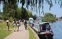People were out and about enjoying the UK's heatwave as the hot weather is expected to see temperatures reach 90F and last until the weekend at least. Henley-on-Thames, UK 23rd June 2020<br /> <br /> Photo by Keith Mayhew