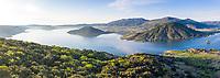 France, Herault, Lac du Salagou, Celles, panoramic view of the Lac du Salagou (aerial view) // France, Hérault (34), lac du Salagou, Celles, vue panoramique du lac du Salagou (vue aérienne)