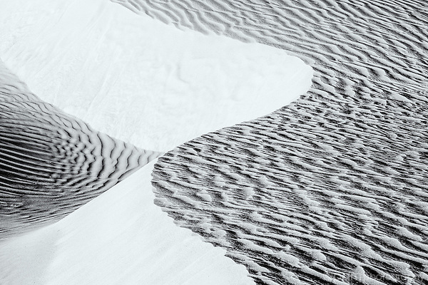 Abstract curve of sand dune