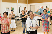 TARA over-fifties exercise class at Greenside Community centre, Lisson Green, West London.