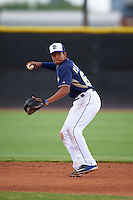 San Diego Padres Reinaldo Ilarraza (62) during warmups before an instructional league game against the Milwaukee Brewers on October 6, 2015 at the Peoria Sports Complex in Peoria, Arizona.  (Mike Janes/Four Seam Images)