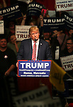 Republican presidential candidate Donald Trump campaigns in Reno, Nev., on Sunday, Jan. 10, 2016. <br /> Photo by Cathleen Allison