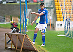 St Johnstone v Hamilton Accies...12.09.15  SPFL McDiarmid Park, Perth<br /> Graham Cummins kicks an ad board in frustration after mssing chance to score<br /> Picture by Graeme Hart.<br /> Copyright Perthshire Picture Agency<br /> Tel: 01738 623350  Mobile: 07990 594431