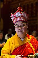 Buddhist Priest,  Buddha Tooth Relic Temple, Singapore.