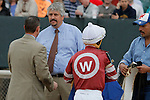 Tapiture trainer Steve Asmussen and co-trainer after the running of the Rebel Stakes (Grade II) at Oaklawn Park in Hot Springs, Arkansas-USA on March 15, 2014. (Credit Image: © Justin Manning/Eclipse/ZUMAPRESS.com)