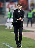 Calcio, Serie A: Lazio - Genoa, Roma, Stadio Olimpico, 5 Febbraio 2018. <br /> Lazio's coach Simone Inzaghi gestures during the Italian Serie A football match between Lazio and Genoa at Rome's Stadio Olimpico, February 5, 2018.<br /> UPDATE IMAGES PRESS/Isabella Bonotto