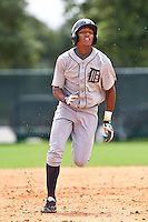 Dixon Machado of the Gulf Coast League Tigers during the game against the Gulf Coast League Braves July 3 2010 at the Disney Wide World of Sports in Orlando, Florida.  Photo By Scott Jontes/Four Seam Images