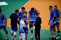 GRONINGEN - Volleybal, Lycurgus - SSS , Eredivisie, Martiniplaza, seizoen 2021-2022,  03-10-2021,  time out Lycurgus