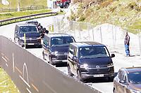 Spieler klommen in Kleinbussen zum Training - Seefeld 31.05.2021: Trainingslager der Deutschen Nationalmannschaft zur EM-Vorbereitung