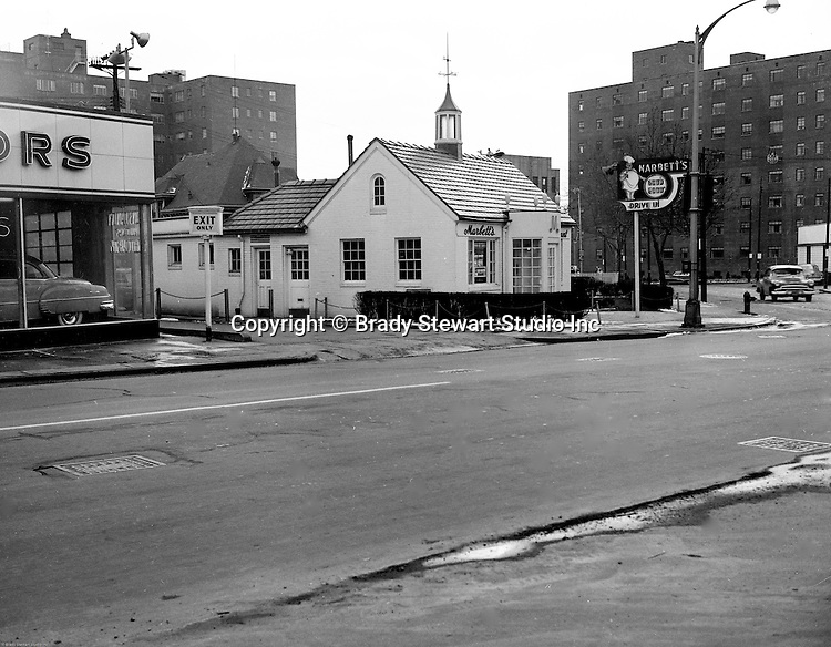Pittsburgh PA:  View Marbett's Restaurant in the East Liberty section of Pittsburgh.