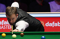 19th january 2020, Alexandra palace, London, United Kingdom;  Ali Carter of England plays a shot during the final match against Stuart Bingham of England at Snooker Masters 2020 at the Alexandra Palace in London