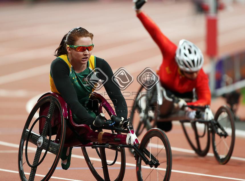 Angela Ballard (AUS), Women's 400m - T53 Final.<br /> Athletics, Olympic Stadium (Saturday 8th Sept)<br /> Paralympics - Summer / London 2012<br /> London England 29 Aug - 9 Sept <br /> © Sport the library/Joseph Johnson