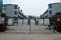 The closed factory belonging to Smart Union, one of several factories in Zhang Mutou in South China that went bankrupt in the current credit crisis. Smart Union, that produced toys for Mattel amongst others, left 6,000 workers jobless and penniless after they could not pay the salaries. Hundreds of factories in South China are closing due to increased labor and material costs and the current credit crissis is exasperating. The problem leaving ghost towns behind. .24 Oct 2008