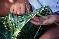 Hawaiian tradition of weaving hats