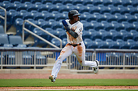 Biloxi Shuckers Luis Aviles Jr. (11) running the bases during a Southern League game against the Montgomery Biscuits on May 8, 2019 at MGM Park in Biloxi, Mississippi.  Biloxi defeated Montgomery 4-2.  (Mike Janes/Four Seam Images)
