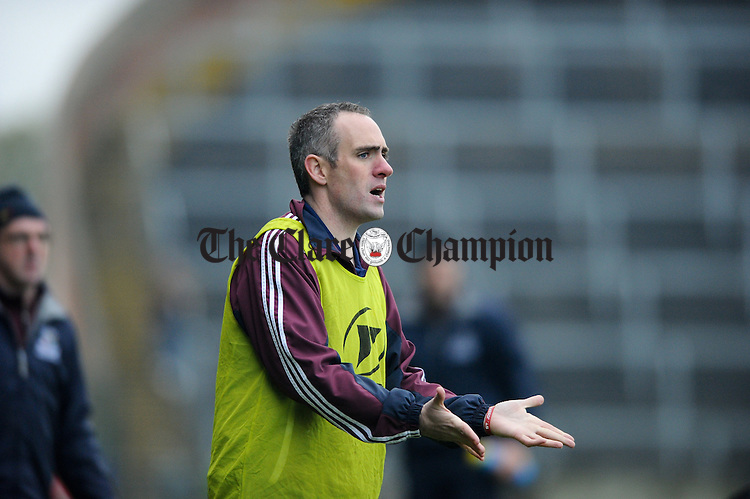 Miltown manager David O Brien on the sideline during their Intermediate Club Munster Final against Clyda Rovers at The Gaelic Grounds. Photograph by John Kelly.