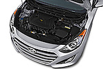 Car stock 2017 Hyundai Elantra Gt 5 Door Hatchback engine high angle detail view